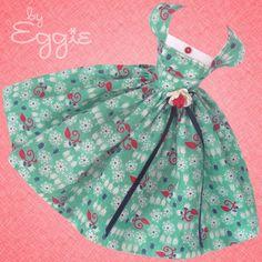 Love Aqua-Vintage Barbie Doll Dress Reproduction Repro Barbie Clothes Fashions