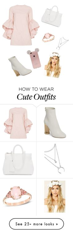 """Cute outfit ♡"" by bagda-doganay on Polyvore featuring Marques'Almeida, Salvatore Ferragamo, Marsèll and Forever 21"
