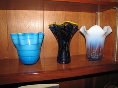 Decorative items including art glass and pottery