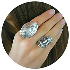 Check out our boho rings selection for the very best in unique or custom, handmade pieces from our shops. Bohemian Design, Bohemian Style, Antique Rings, Antique Silver, Oval Rings, Silver Rings, Boho Fashion, Vintage Fashion, Vintage Style Rings