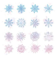 Watercolor snowflakes star symbol graphic crystal vector by rommeo79 on VectorStock®: