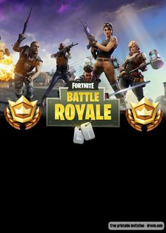 Welcome to Fortnite Battle Royale party! Celebrate your birthday with our free printable Fortnite birthday invitation template! Celebrate your birthday party with your favorite game, and save the money. Free Printable Invitations Templates, Digital Invitations, Templates Free, Printables, Nerf Party, Birthday Template, 10th Birthday Parties, Wedding Templates, Battle