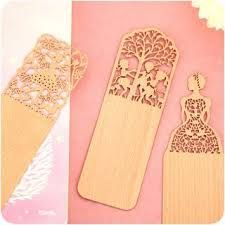 Image result for laser cut bookmarks wood