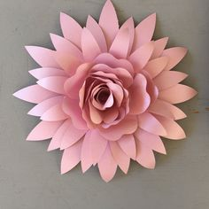 Decorative paper flower от MermaidHaus на Etsy - New Deko Sites Paper Flower Patterns, How To Make Paper Flowers, Large Paper Flowers, Tissue Paper Flowers, Paper Flower Tutorial, Paper Roses, Diy Flowers, Fabric Flowers, Flower Paper