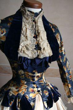 Velvet dress, 1886 (detail)