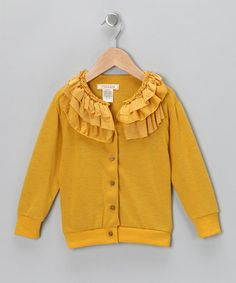 Take a look at this Dandelion Frill Icing Cardigan - Toddler by Cavelle Kids on #zulily today!