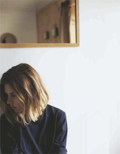 This is sort of similar to my new haircut! Chopped off my long scraggy bleached hair, Alexa Chung's color & Jessicka Addams cut :) LOVING IT