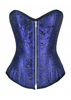 Best Corset Dress | CorsetAttire Royal Blue Brocade Zipper Front Double Bone Corset Top * Want additional info? Click on the image(It is Amazon affiliate link). #love