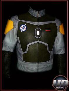 Boba Fett Motorcycle jacket - I'd buy a motorbike for this... http://i.imgur.com/G42gJ.jpg