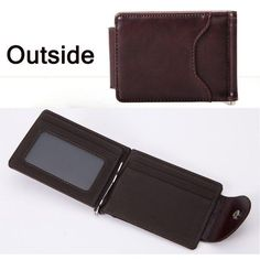 b1ce3eaa32ce9 Money Clip Leather Wallet with Mini Purse