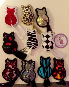 Cat shaped burlesque tassels made by Rusty Blaze $10 a set. Can be used to decorate cards and gift boxes too!