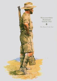 BRITISH ARMY - Fusilier, Worcestershire Regiment, Tobruk 1942