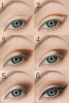 Eyeliner Look Using Black Eyeshadow and Soft Hues Makeup Goals, Makeup Inspo, Makeup Inspiration, Makeup Tips, Makeup Tutorials, Makeup Designs, Tips Belleza, Eye Make Up, Beauty Make Up