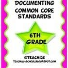 6th GRADE COMMON CORE STANDARDS for Math and Language Arts   $