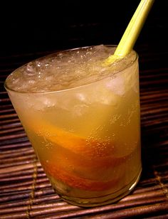 bite the bulleit: bulleit bourbon, ginger syrup, lemon, and angostura