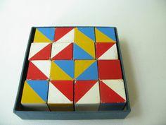 Vintage Geometric Wood blocks testing pattern nautical by PassedBy, $28.00