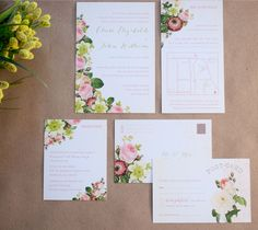 wedding invitations by rose gold studio #BoutiqueBridalBazaar