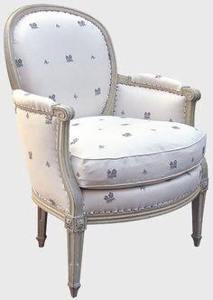 Fauteuil berg re style louis xv relook for Tout salon fauteuil