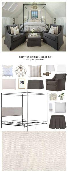 Copy Cat Chic Room Redo | Cozy Traditional Bedroom