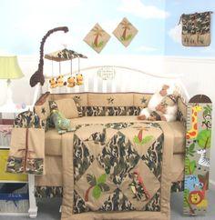 SoHo Camoflage Dinosaur Crib Nursery Bedding 10 Pieces Set ** LIMITED TIME OFFER ! **:Amazon:Baby