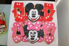 Mickey And Minnie Mouse Sugar Cookies