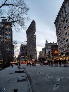 The Flatiron at dusk by newyorknyc - The Best Photos and Videos of New York City including the Statue of Liberty, Brooklyn Bridge, Central Park, Empire State Building, Chrysler Building and other popular New York places and attractions.