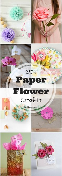 25+ Paper Flower Crafts | NoBiggie.net