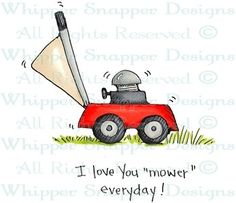 """Love You """"Mower"""" - Father's Day - Celebrations - Rubber Stamps - Shop Doodle Drawings, Doodle Art, Father's Day Celebration, Dad Day, Mosaic Projects, Scrapbook Cards, Scrapbooking, Painted Pots, Masculine Cards"""