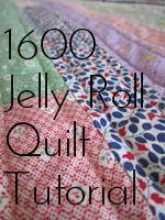 "Happier Than A Bird Quilts: Tutorial - 1600 quilt For this quilt you will need: ONE Jelly Roll OR Forty 2 1/2"" x Width of Fabric strips.  Backing, about 2 2/3 - 3 yards Binding 1/2 yard     And of course batting, *Warning this is a VERY picture heavy tutorial. 52 pictures to be exact. Sorry if it is slow to load."