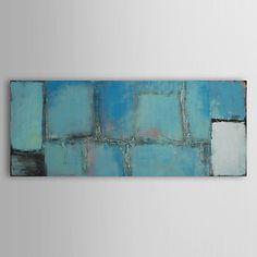 Pintados à mão pintura a óleo abstrata pintura da lona, com quadro esticado – BRL R$ 268,17