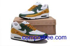 Comprar barato hombre Nike Air Max Zapatillas (color:blanco,verde,amarillo) en linea en Espana. Nike Air Max, Air Max 90, Air Max Sneakers, Sneakers Nike, Zapatillas Nike Air, Nike Basketball, Air Jordans, Shoes, Fashion