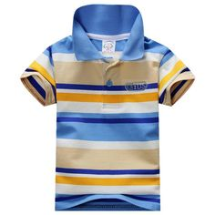 2016 Summer 1-7Y Child Baby Boy Stand Collar Striped T-shirt Casual Kids Tops Tee Polo Shirt #>=#>=#>=#>=#> Click on the pin to check out discount price, color, size, shipping, etc. Save and like it!