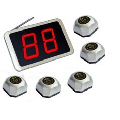 Wholesale SINGCALL.Pager,Beeper,Calling Button.Displayer for Kitchen.Wireless Paging System. Pack of 1 pc APE1000 and 5 pcs APE560. [1000-560S 1-5]- US$193.99 - singcall.com