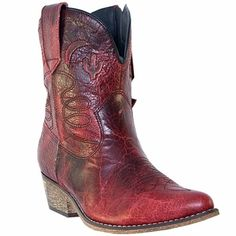 Dingo Women's Adobe Rose Red Fashion Western Boots