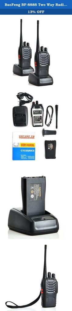 BaoFeng BF-888S Two Way Radio (2pcs). The BaoFeng BF-888S is a compact hand held transceiver providing 2 watts in the frequency range of 400-480 MHz. You get up to 16 selectable memories (user-programmable). Other features include: selectable wide/narrow band, battery save function, VOX, DCS/CTCSS encode, and a built in flashlight. This radio requires the PC03 FTDI programming cable to program Channels and Frequencies. The 2 Pack of BF-888s Includes: 2 1300mAh Batteries 2 BF-888S 2...