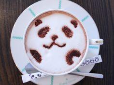 Panda latte, cafeteria panda japon
