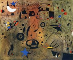 View Femme a la blonde aisselle coiffant sa chevelure a la lueur des etoiles from Miro Constellations By Joan Miró; Access more artwork lots and estimated & realized auction prices on MutualArt. Spanish Painters, Spanish Artists, Kandinsky, Joan Miro Paintings, Cleveland Museum Of Art, Abstract Expressionism, Canvas Art Prints, Les Oeuvres, Modern Art