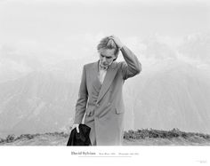 Limited edition poster of the iconic image of David Sylvian, taken by Yuka Fujii on Mont Blanc in 1984, as featured on the cover of the recently released 'A Victim of Stars' compilation.