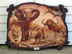 leather burning art - Google Search