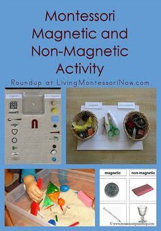 Magneten : Montessori Monday – Montessori Magnetic and Non-Magnetic Activity Science Montessori, Montessori Trays, Montessori Practical Life, Montessori Homeschool, Montessori Classroom, Kindergarten Science, Preschool Curriculum, Science Activities, Classroom Activities
