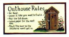 Retro Primitive Vintage Country Wood Outhouse Rules Bath Sign Bathroom Wall | eBay