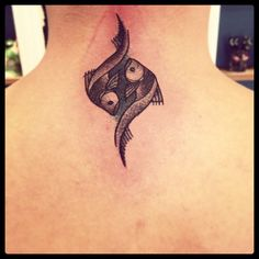 Pisces Tattoos | InkDoneRight  Pisces Tattoos most often (but not always) take the form of two fish, swimming away from one another or in different directions but connected by a...
