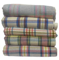 Loads of vintage Welsh blankets