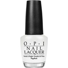 Opi Nail Lacquer, Alpine Snow ($10) ❤ liked on Polyvore featuring beauty products, nail care, nail polish, makeup, nails, alpine snow, opi nail color, opi, opi nail polish and opi nail care