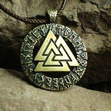 1 pcs Slave Norvège Valknut païen amulette pendentif Hommes collier Scandinave Viking bijoux Symbole de Odin de Norse Viking Guerrier(China (Mainland))