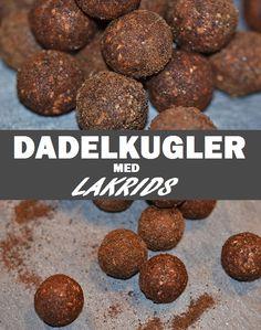 Utroligt gode dadelkugler, der kun kræver tre ingredienser at bikse sammen og har en fantastisk smag af lakrids.