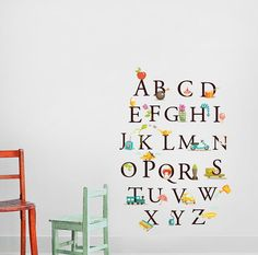 Alphabet Nursery Wall Decal  Children Room Wall by DecalSisters, $120.00