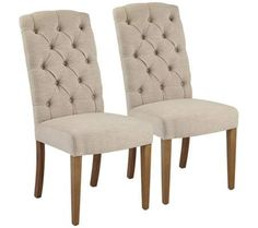 Lydia Natural Linen Dining Side Chair Set of 2 | 55DowningStreet.com