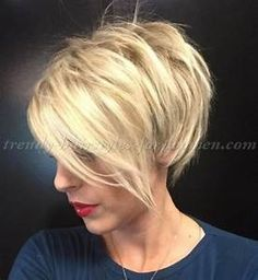 short hairstyles with long bangs - short blonde hairstyle ...