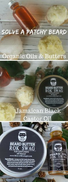 "Organic Oils and Butters with the ""powerhouse"" oil of Jamaican Black Castor Oil treats dry hair, promotes hair growth and conditions hair."